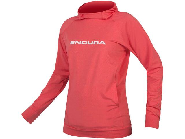 Endura SingleTrack Hoodie Women red